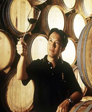 Tasting Thai win from the barrel at PB Winery