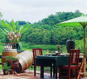Enjoy the scenery while tasting Thai wine from Mae Chan Winery